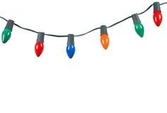 Luzes de Natal isoladas no branco Imagens de Stock