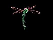 Luzes de Natal: libélula Fotografia de Stock Royalty Free