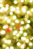 Luzes de Natal na árvore fotografia de stock royalty free
