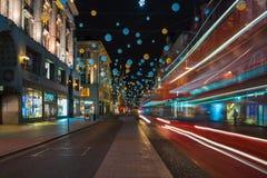 Luzes de Natal na rua de Oxford, Londres, Reino Unido Fotos de Stock