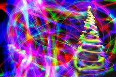 Luzes de Natal no movimento Imagem de Stock
