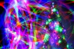 Luzes de Natal no movimento Fotografia de Stock