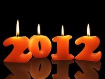 Luzes de Natal por 2012 anos ilustração royalty free