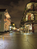 Luzes de Natal reais da rua Foto de Stock