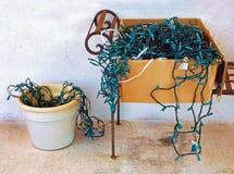 Luzes de Natal Tangled Foto de Stock