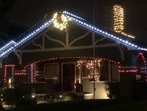 Luzes de Natal vitorianos imagem de stock royalty free