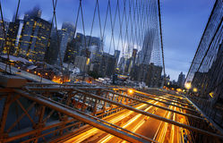 Luzes de New York City Foto de Stock