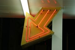 Luzes de néon de Las Vegas, entrada Fotografia de Stock