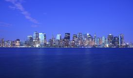 Luzes de NYC imagens de stock