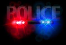 Luzes de piscamento da polícia Fotografia de Stock Royalty Free