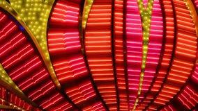 Luzes de piscamento de néon do casino de Las Vegas filme