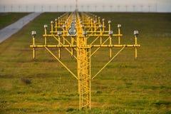 Luzes de pista de decolagem Imagens de Stock