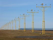 Luzes de pista de decolagem Fotografia de Stock Royalty Free