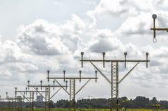 Luzes de pista de decolagem em seguido Imagem de Stock Royalty Free