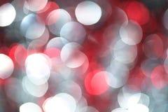 Luzes de prata e vermelhas imagens de stock