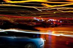 Luzes de rua borradas Foto de Stock Royalty Free
