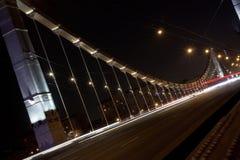 Luzes de rua da noite fotografia de stock