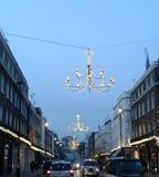 Luzes de rua do Natal Imagens de Stock