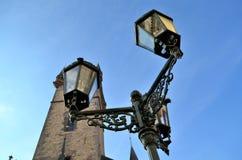 Luzes de rua na rua de Praga Fotografia de Stock Royalty Free