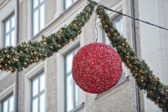 Luzes de ruas do Natal Fotos de Stock Royalty Free