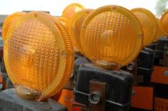Luzes de sinal do perigo Fotografia de Stock Royalty Free