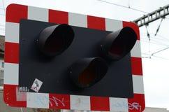 Luzes de sinal Railway do tráfego na Irlanda Foto de Stock Royalty Free