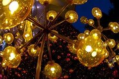Luzes decorativas Fotos de Stock Royalty Free