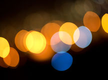 Luzes Defocused Fotografia de Stock