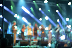 Luzes Defocused do concerto de rocha Imagem de Stock Royalty Free