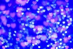 Luzes Defocused do coração Imagem de Stock Royalty Free