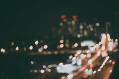 Luzes diferentes Defocused da noite da cor da cidade Fotos de Stock Royalty Free