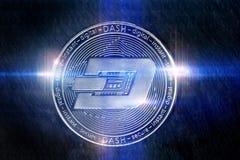 Luzes digitais da moeda do traço que compõem Imagens de Stock