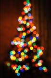 Luzes do ano novo coloridas Imagens de Stock Royalty Free