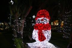 Luzes do boneco de neve Foto de Stock