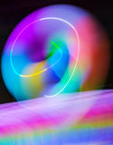 Luzes do borrão da onda do sumário da cor da meditação dentro Fotos de Stock