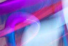 Luzes do borrão da onda do sumário da cor da meditação dentro Foto de Stock
