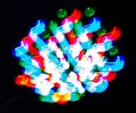 Luzes do borrão da onda do sumário da cor da meditação dentro Imagem de Stock Royalty Free