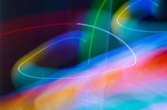 Luzes do borrão da onda do sumário da cor da meditação dentro Foto de Stock Royalty Free