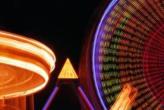 Luzes do carnaval do Nighttime Foto de Stock