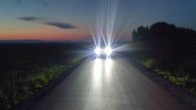 Luzes do carro na estrada Imagens de Stock Royalty Free