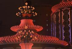 Luzes do casino fotos de stock royalty free