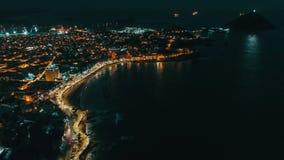 Luzes do centro de Sinaloa da noite de Mazatlan Fotos de Stock Royalty Free