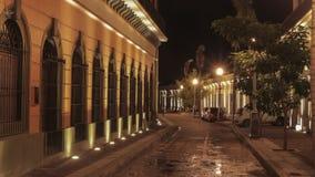 Luzes do centro de Sinaloa da noite de Mazatlan Imagens de Stock Royalty Free