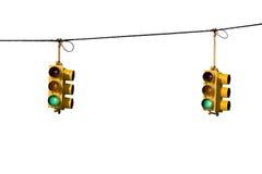 Luzes do controlo de tráfico Fotografia de Stock