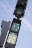 Luzes do cruzamento pedestre Imagens de Stock Royalty Free