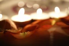 Luzes do dia do Valentim Fotos de Stock