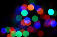 Luzes do disco do arco-íris Foto de Stock Royalty Free