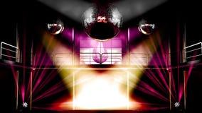 Luzes do discotheque do clube de noite ilustração do vetor