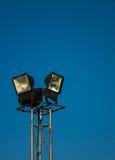 Luzes do esporte com céu claro Fotos de Stock