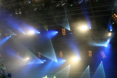 Luzes do estágio. Na mostra Imagem de Stock Royalty Free